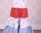 Whale and Polkadot Twirl Dress