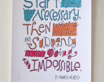 St Francis Quote - Digital Print Mini Poster
