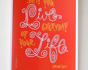 Jonathan Swift Quote - Digital Print Mini Poster
