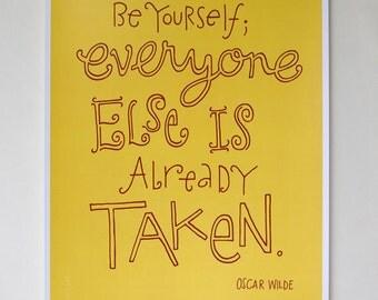 Oscar Wilde Quote - Digital Print Mini Poster