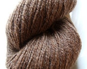 SALE Natural Brown Dehaired LLAMA Sock Yarn 480 yards Heavy Fingering Weight American Grown and Processed