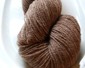 SALE Natural Brown Wool and Nylon Sock Yarn 440 yards  Heavy Fingering Weight