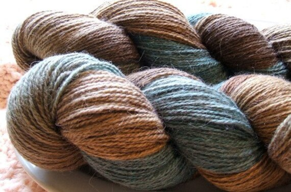 Dehaired Llama Sock Yarn Hand Dyed HUMBOLT  413 yards SUPER SOFT