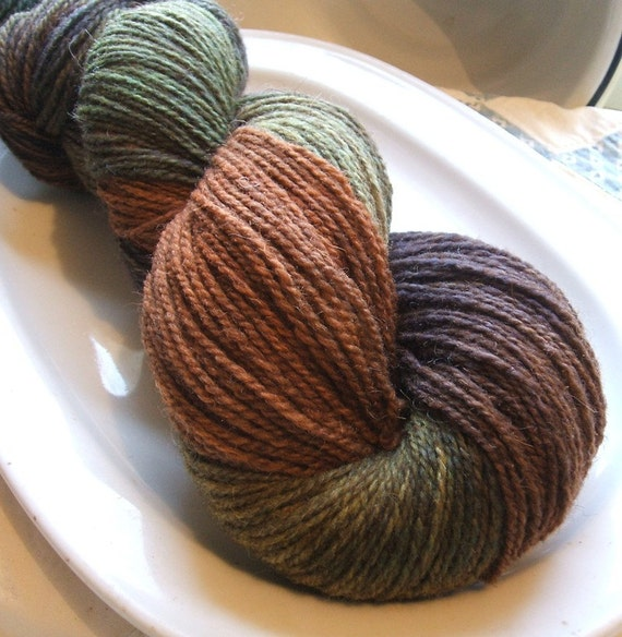 PRIMORDIAL Wool and Nylon AMERICAN Grown & Processed Hand Dyed Sock Yarn