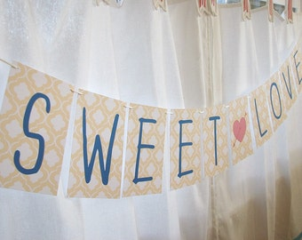 Love Letters Paper Garland Party Banner - CHOOSE WORDING