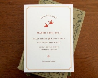20 Love Birds Save the Dates and Wedding Invitations