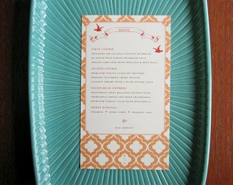 20 Love Birds Vintage Rustic Wedding and Event Menus