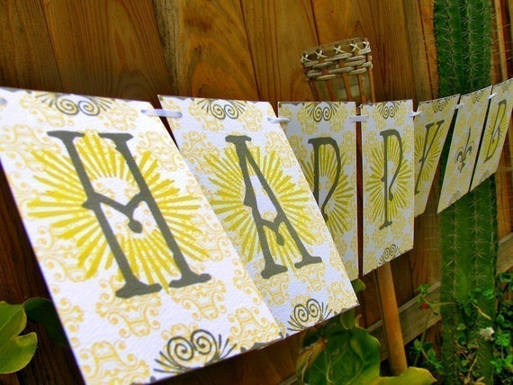 Perfect Party Birthday Paper Banner Garland - Deco Sun