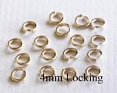 100 pcs - 20g BULK 4mm 14k Gold Filled Open Jump Ring