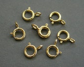20 pcs - 5mm 14K Gold Filled Spring Ring Open Clasp