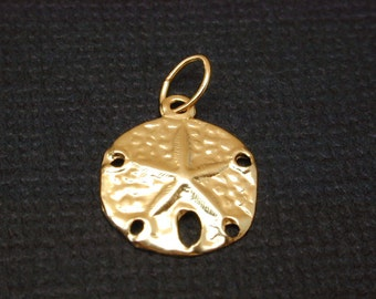 14k Gold Filled Sand Dollar Charm  11mm, choose quantity