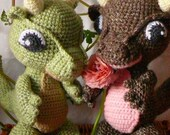 Amigurumi Baby Dragon Crochet Pattern PDF