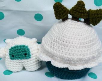 Cupcake and Mini Yeti playset Crochet pattern PDF