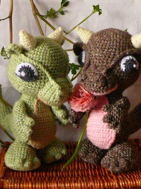 Amigurumi How To Train Your Dragon : Amigurumi Baby Dragon Crochet Pattern PDF