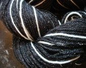 RESERVED FOR KRAFTSbyKAndA:  Impala Self-striping Superwash Merino Sock Yarn with Silvery Sparkles