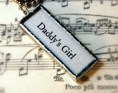 Daddy's Girl reversible charm