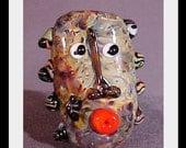 BZB'S  Ra- ku  Mask  Lampwork bead  SRA