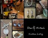 Custom Listing for Janet - Sterling Silver & Labradorite Earrings