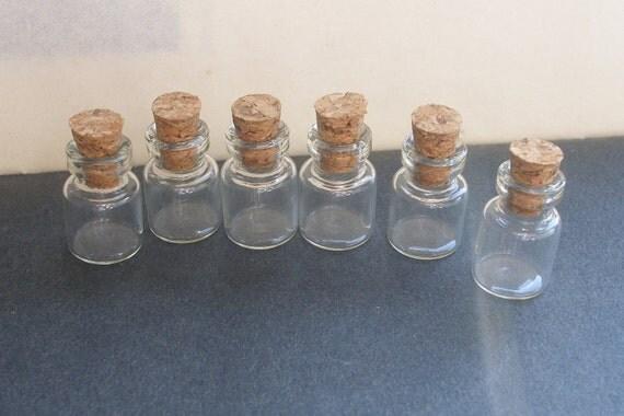 2 dollar sale 6 tiny vial glass  bottles 0.5ml