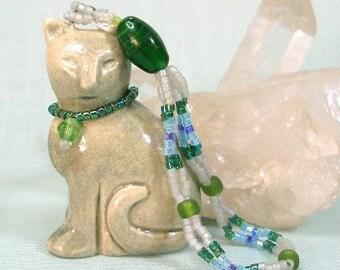 Winking Grey Cat Ornament