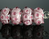 Reserved for Jane Shades of Purple lampwork bead set