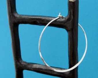 hammered, sterling hoops - ginormous, XXL, 18ga 16ga, 2 inch