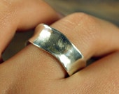 Silver Wedding Band - Recycled and EcoFriendly - Organic Shape - Everyday Ring for the Bride - Alternative Wedding Band