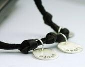 Mom Jewelry - Mom Bracelet - Leather Wrap Bracelet - Personalized Jewelry - Custom Jewelry - Black Leather - Gift for Mom - Trendy Mom B1037