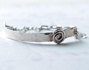 Cuff bracelet - Silver Cuff Bracelet - fine jewelry luxe jewelry - Artist Modern Gypsy Jewelry - EcoFriendly Sterling Silver - Gift for her