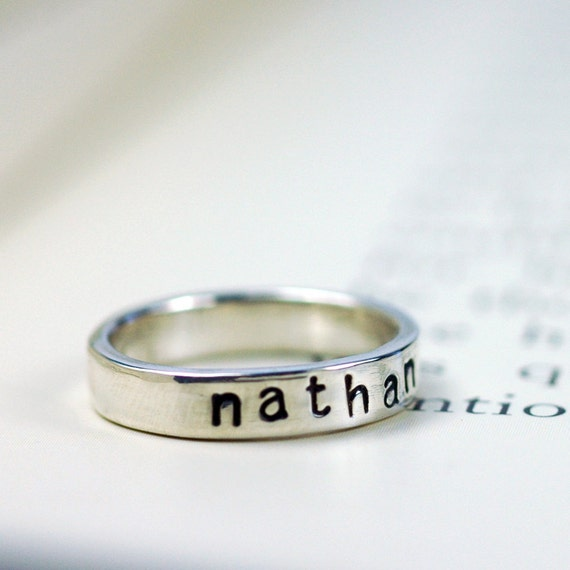 Personalized Ring - Stacking Rings - Mothers Ring - Silver Ring - Personalized - Stackable Mothers Rings - Ring for Mom - Mothers Day R4042