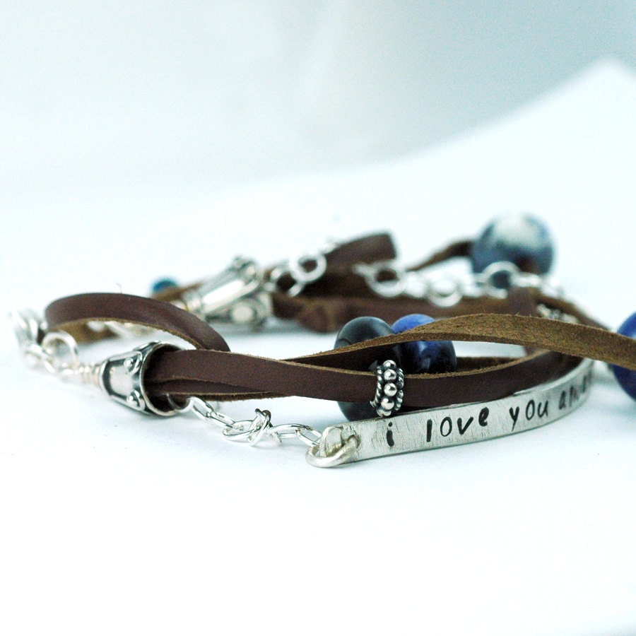 Custom Leather Bracelets on Bar   Custom And Personalized   Recycled Metal   Leather Jewelry