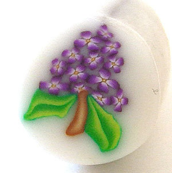 RAW Purple Lilac Polymer Clay Cane
