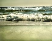 Ocean Beach Art, teal decor, beach house decor, ocean photography, beach photography - From January's Shore