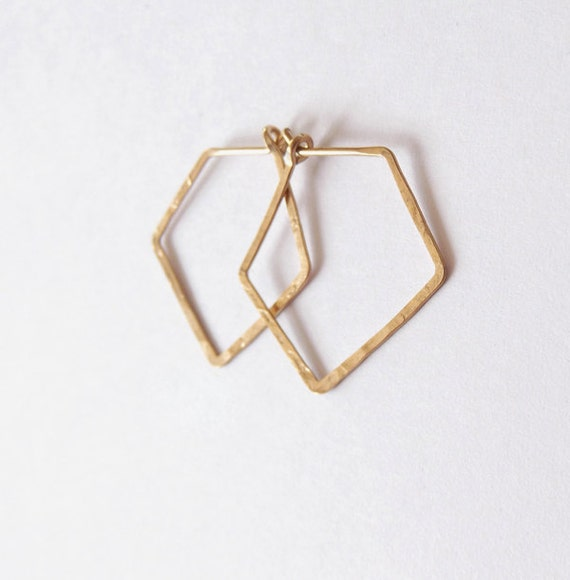 RESERVED FOR STEPHANIE no. 489 - brass diamond hoops