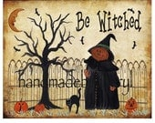 Halloween Print Pumpkin Witch Man, Pumpkins, Black Cat
