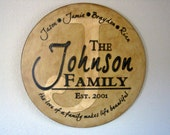 Primitive Wood Sign - LIMITED EDITION-16 inch Handpainted Round Custom Personalized Sign-Family Name