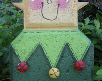 Yard Art, Garden Decor, Garden Decoration, Outdoor Decor, Santa's Elf Patio Person, Front Porch Decor, Christmas decor
