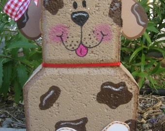 Yard Art, Garden Decor, Garden Decoration, Outdoor Decor, Good Dog Patio Person Weather Resistant Painted Concrete Paver