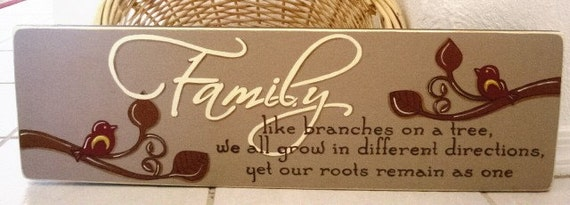 Primitive Wood Sign - Family Tree Handpainted Wood Sign Housewarming Gift
