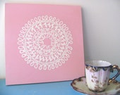 Personalized Doily Painting (8 or 9 letters)