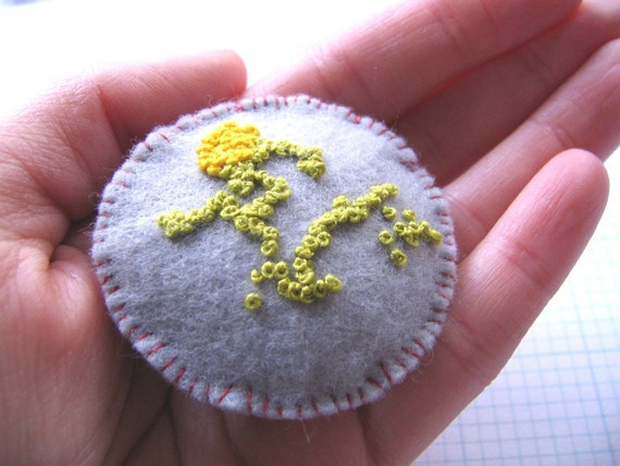 CLEARANCE - Lichen Brooch 1