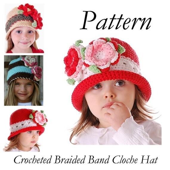 Boutique Crochet Braided Band Cloche Hat EBOOK/Pattern