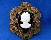Antique Cameo, Etruscan Revival, Hardstone, ca 1920s NT-1018