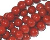 15 inch strand of Red Jasper round beads 8mm