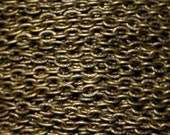 32 ft of Antiqued bronze fancy flat cable chain 3.2X 4.5mm