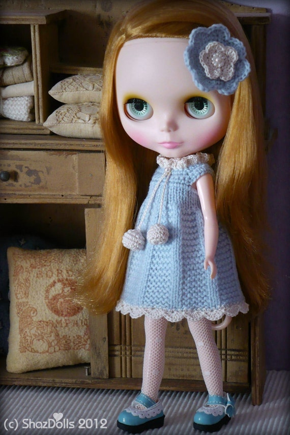 Victorian Pastel Blue Outfit for Blythe