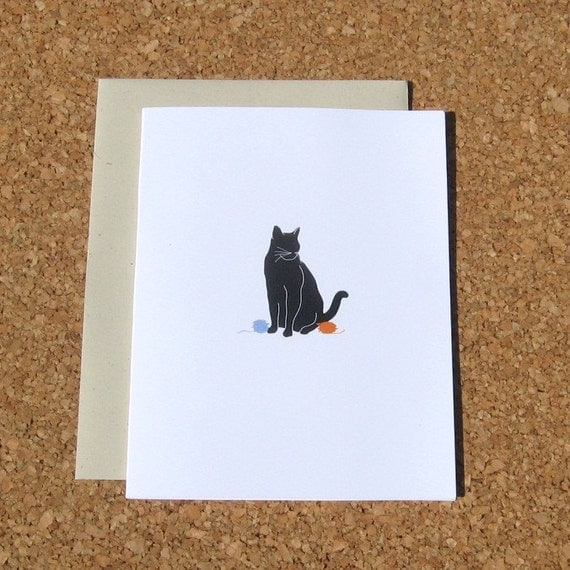 Black Cat Cards - Set of 8 Blank Note Cards