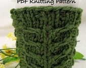 PDF Knitting Pattern - Claw Coffee To Go Cozy or Cold Drink Sleeve