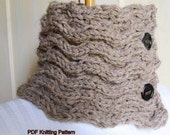 PDF Knitting Pattern - Waves for Scarf or Scarflette Neckwarmer