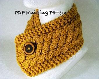 Triple Cable Neckwarmer - PDF Knitting Pattern